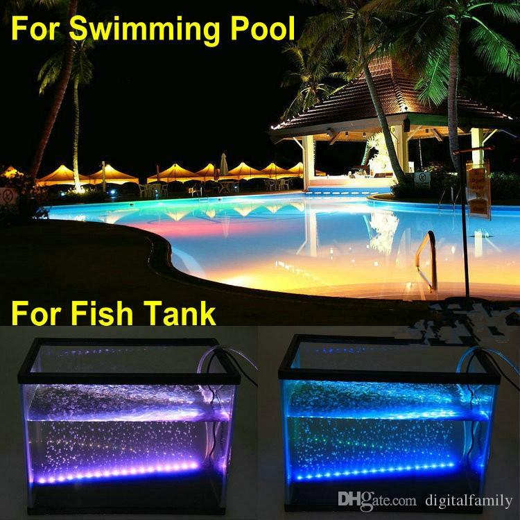 5M RGB 5050 LED Strip IP68 Waterproof 12V 60LED/M Use Underwater for Swimming Pool Fish Tank Bathroom Outdoor With 44keys Remote Contorller