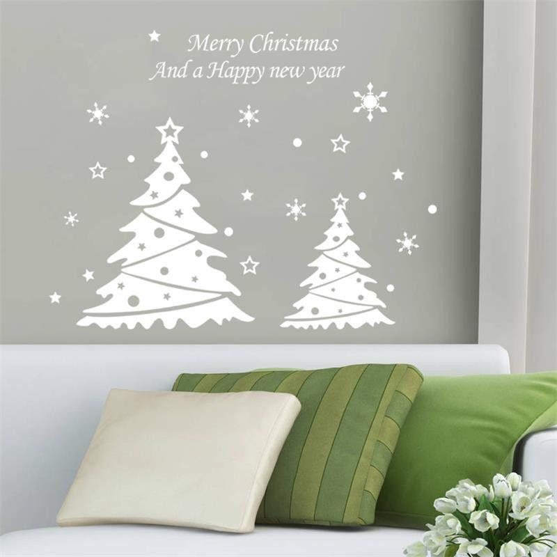 2016 New Series Of Christmas Tree Stickers Xmas35 Snowflake Light