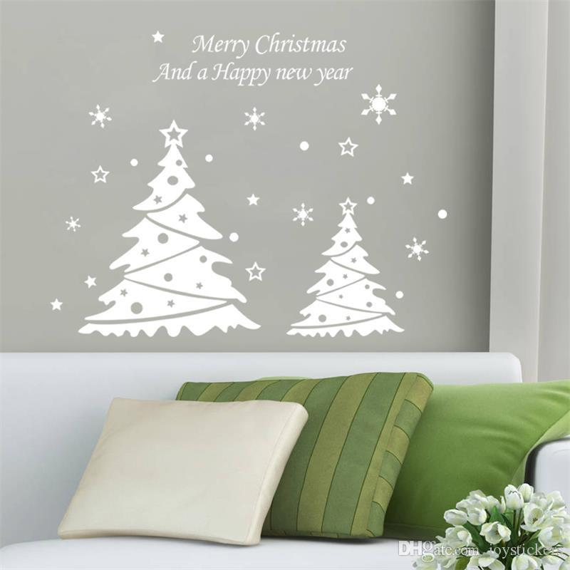 New Series Of Christmas Tree Stickers Xmas Snowflake Light - Wall decals 2016