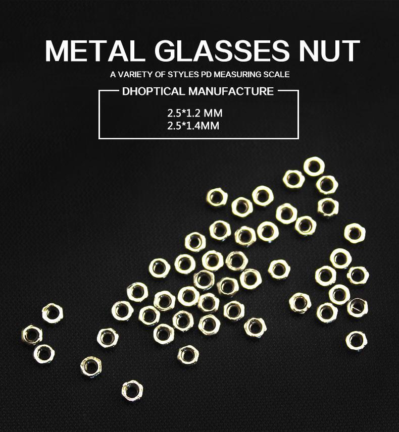 금속 안경 너트 무테 안경 너트 도매 안경 매장 안경 가게 좋은 품질의 안경 액세서리