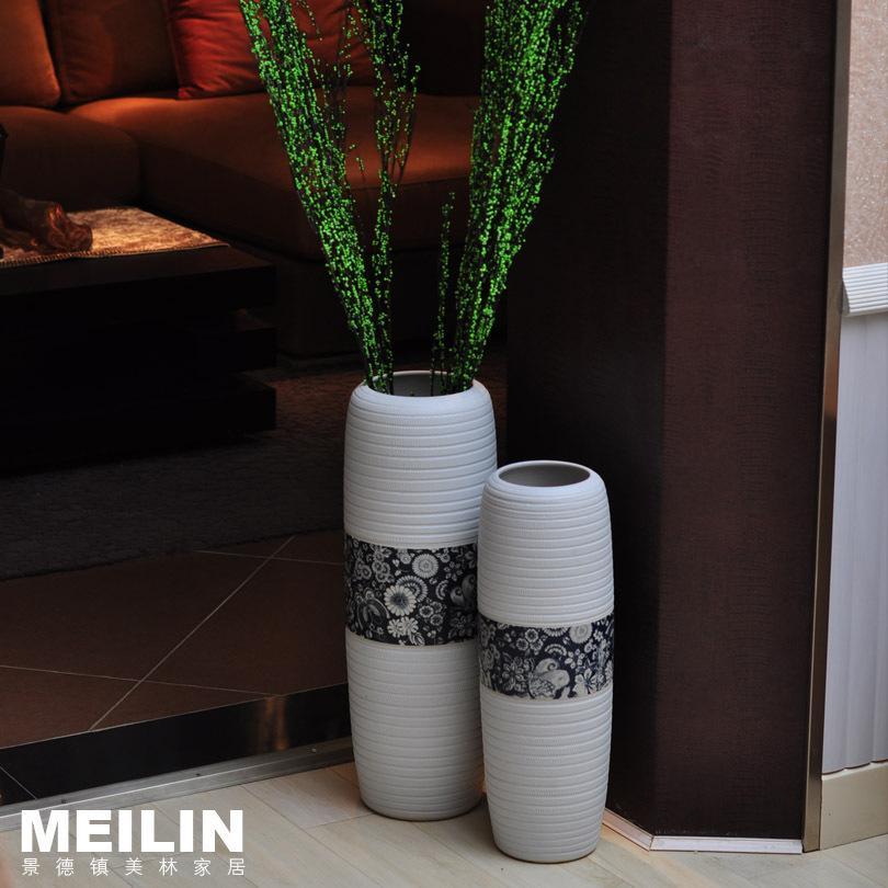 fashion modern home decoration ceramic brief large floor vase decoration flower high temperature ceramic large blue vases large ceramic vases from gao122yi