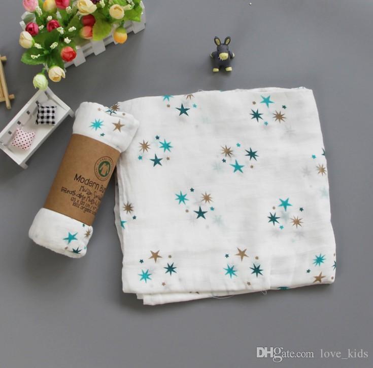 الجملة 100٪ الكرتون القطن بطانية الرضع عدن الشاش بطانية لف طفل بطانية 120 * 120CM 42 أسلوب الشحن المجاني