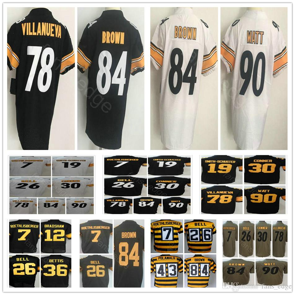 detailed pictures c2d61 3454c 2018 Vapor Color Rush 19 JuJu Smith-Schuster 21 Joe Haden 30 Conner 81  Jesse James Harrison 84 Antonio Brown Salute To Service Jersey