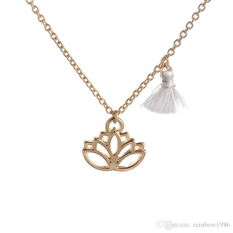 Gold lotus pendant necklace pink tassel long gold chain hindu gold lotus pendant necklace pink tassel long gold chain hindu jewelry buddhist jewelry mala inspired necklace om yoga jewelry steampunk necklace pendant mozeypictures Image collections