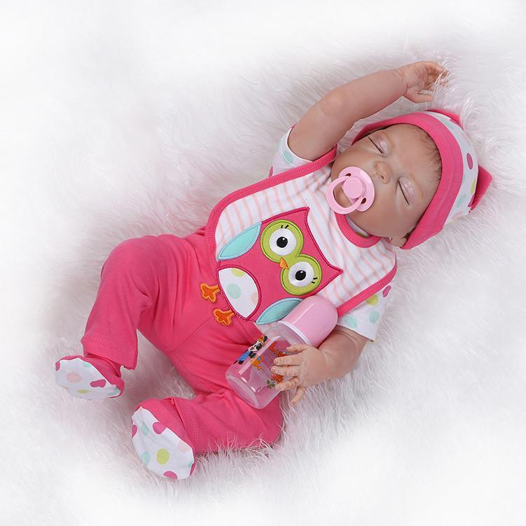 57cm Full Body Silicone Reborn Baby Dolls Realistic