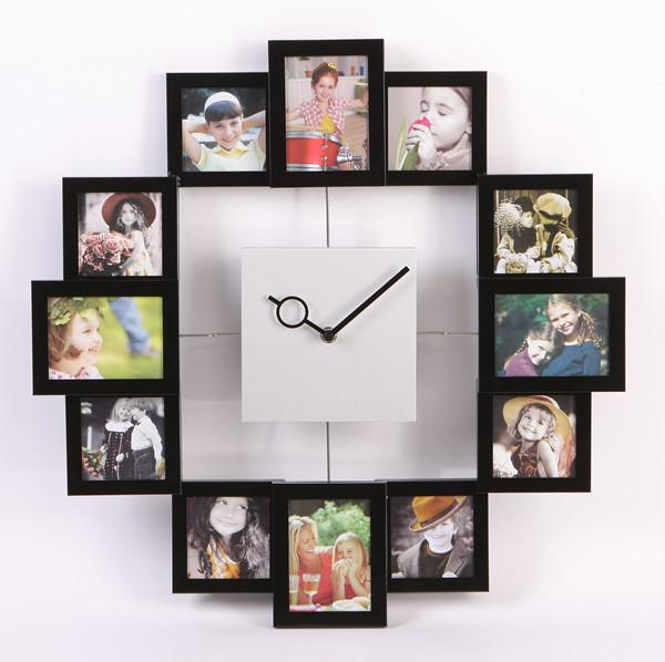 2014 Metal Personalized Photo Frame Living Room Brief Silent Watch ...