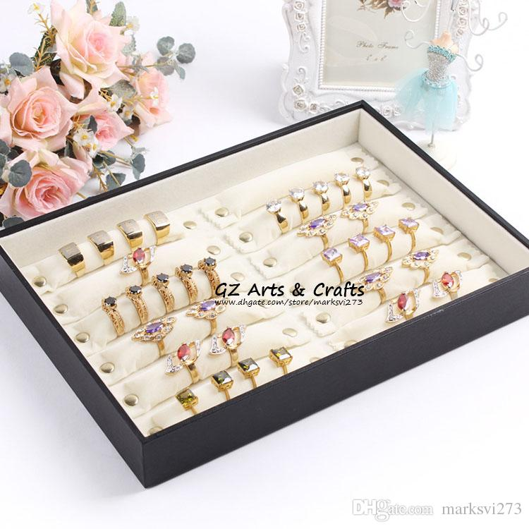 Ring Tray Sponge Ring Jewelry Holder Jewelry Packaging Display Stand Button Detachable Ring Stick Ring Jewellery Boxes Gift Box Organza