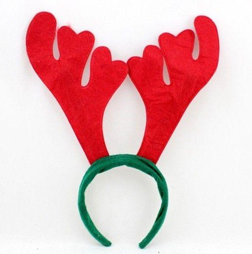 XMAS GESCHENK !! freies Verschiffen Weihnachtsdekoration-Partei liefert Ren-Geweih-Sankt-Hut-Weihnachtshut-Reifen freies Verschiffen best2011