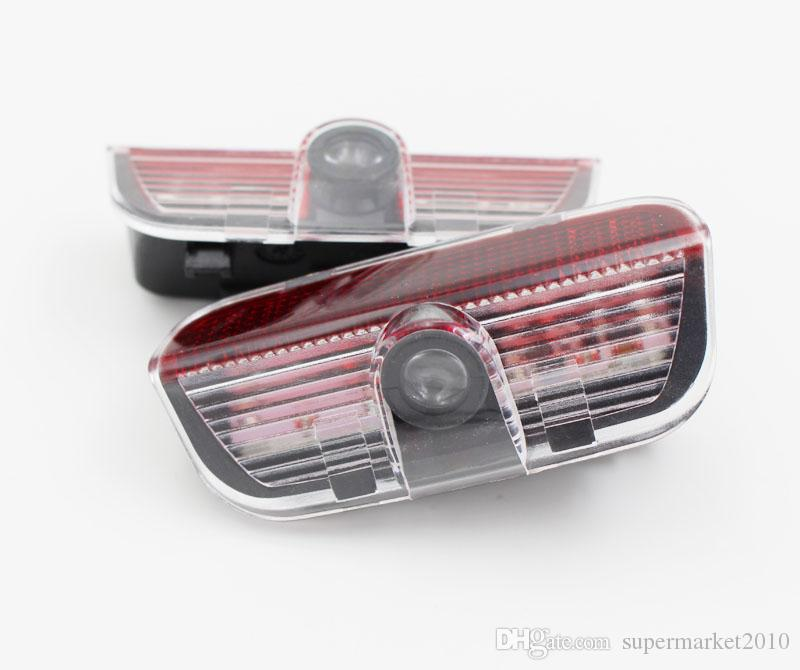 ضوء باب السيارة ترحيب Ghost Shadow لشركة فولكس فاجن باسات B6 B7 CC جولف 6 7 جيتا MK5 MK6 تيغوان شيروكو مع تسخير ليزر العارض