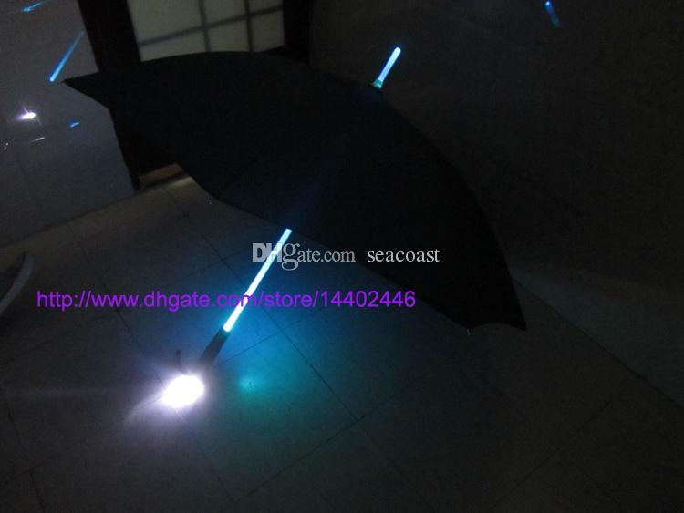 / 쿨 블레이드 러너 라이트 세이버 LED 플래시 라이트 우산은 우산 병 우산 손전등 야간 워커 장미