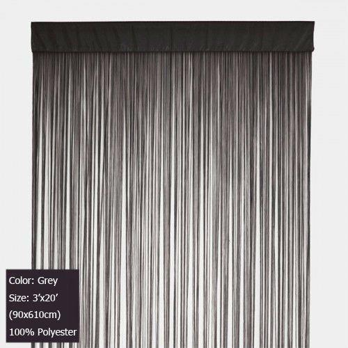 2018 Grey String Curtains Fringe Curtain Panel For Wall And Backdrops Extra Long 20 Feet From Mosty 11625