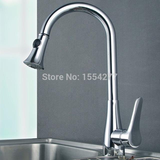 Wholesale Brass Sink Chrome Kitchen Faucet Handles Pull Out Hot ...