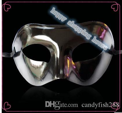 10 adet Ücretsiz boyutu Cadılar Bayramı partisi gösterisi Masquerade Maske düz yarım yüz maskesi ve maske sprey kaplama