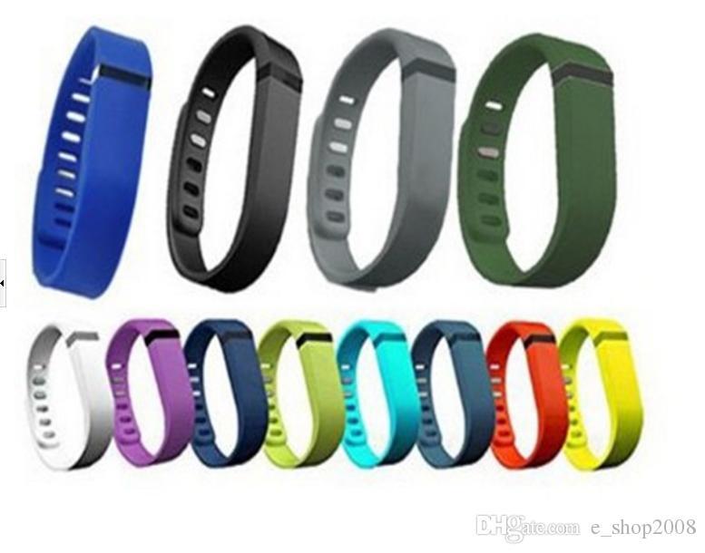Fitbit Flex Band Nero Con cinturino in TPU di ricambio cinturino da polso Bracciale da polso con fibbia in metallo No Tracker