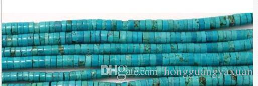Natural Turquoise Gemstone Heishi Beads Spacer 6mm 15''