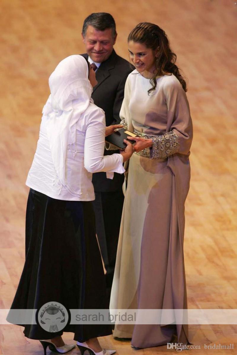 シルバー長袖イスラム派のイブニングドレスクリスタルサッシアラビアピートドレスイスラムアバヤモロッコドバイカフンフォーマルイブニングガウン