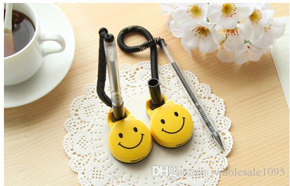 Plumas Adhesivas fuertes Cuerda de tracción Caricatura, soporte para la cara sonriente Suministros de banco Envío gratis