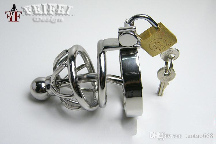 سوبر صغير ذكر العفة الديك قفص الجنس الرقيق القضيب قفل مكافحة الانتصاب جهاز مع إزالة قسطرة الإحليل السبر أقصر Z669