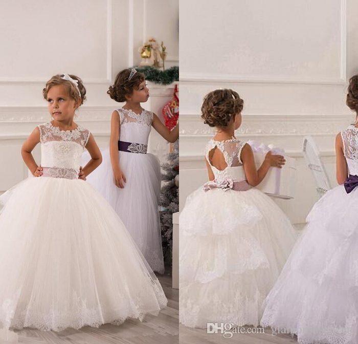 4555fa67b05 Cheap Flower Girl Dresses Tails Discount Flower Girl Dresses Gloves