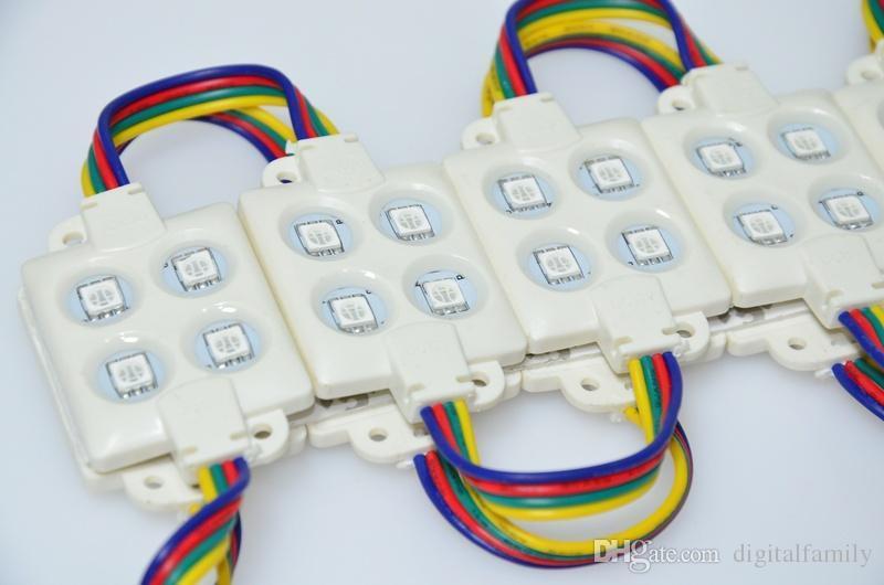 사출 ABS 플라스틱 SMD5050 Led 모듈 SMD 4 Leds DC12V LED RGB 모듈 주입 IP67 방수 Led 모듈 표시 등 광고