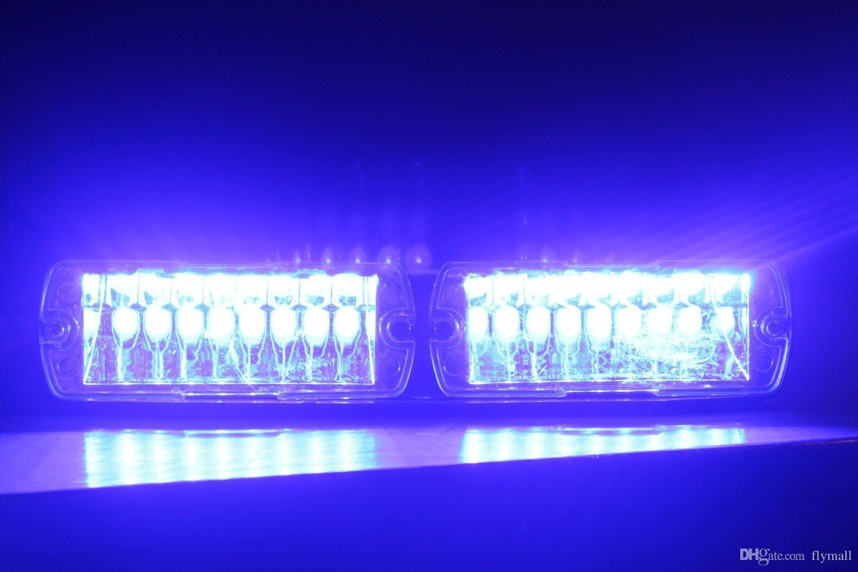 S2 Viper Señal Federal 16 unids Alta Potencia Led Luz Estroboscópica Auto Del Coche Luz de Advertencia Luz de Policía Luces de Emergencia LED 12 V Luz de Frente Del Coche Lámpara de Coche