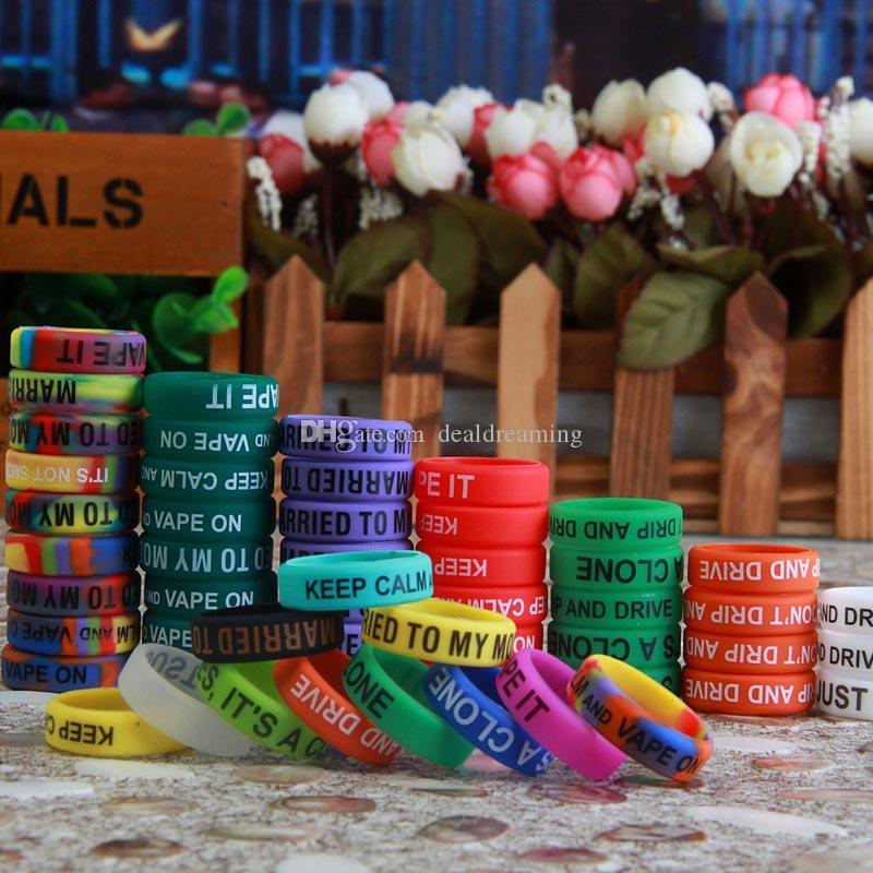 Silicone Vape Bands Ring Anti Slip For Mechanical Mods Non-Slip Rubber Vape Vapor Band logo Silicone Glow in the Sun & Dark Rings Ego