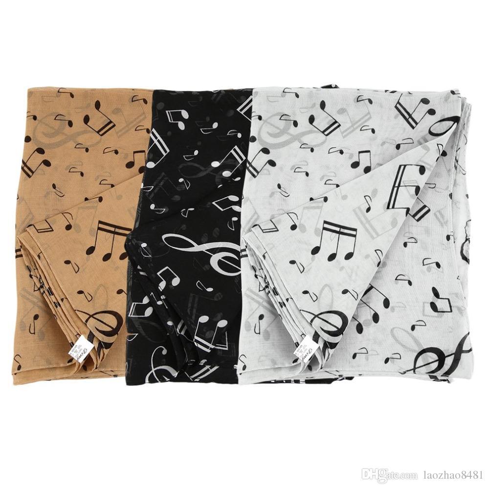 Sciarpe New Chiffon Musical Delle Sciarpa Note Acquista Fashion qXHS6nwP