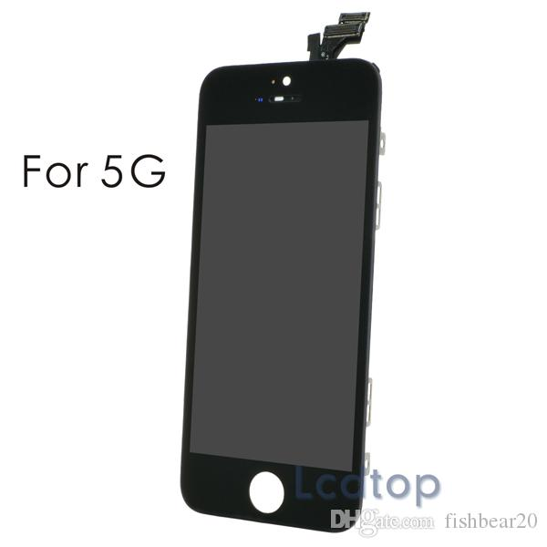 For iPhone 5/5S/5C LCD high Quality No Dead Pixels Touch Display Digitizer Screen with Frame with Small Parts Assembly Repalcement Parts