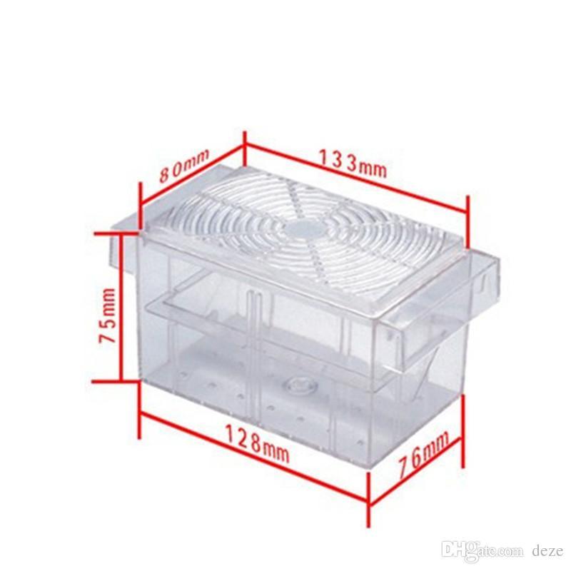 S / L 도매 수족관 물고기 사육 상자 플라스틱 탱크 사육 함정 부화 플로팅 브리더 격리 생선 아기 부화장