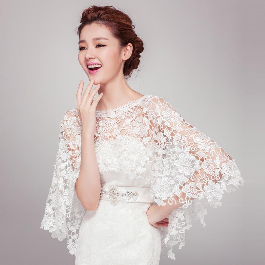 2018 Bx1 Shallow Dream 2015 Water Soluble Lace Bridal Wedding Dress Shawl Jacket From Bingxin1421 4485