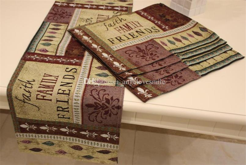 Set Of 1 Table Runner And 4 Placemats Faith Family
