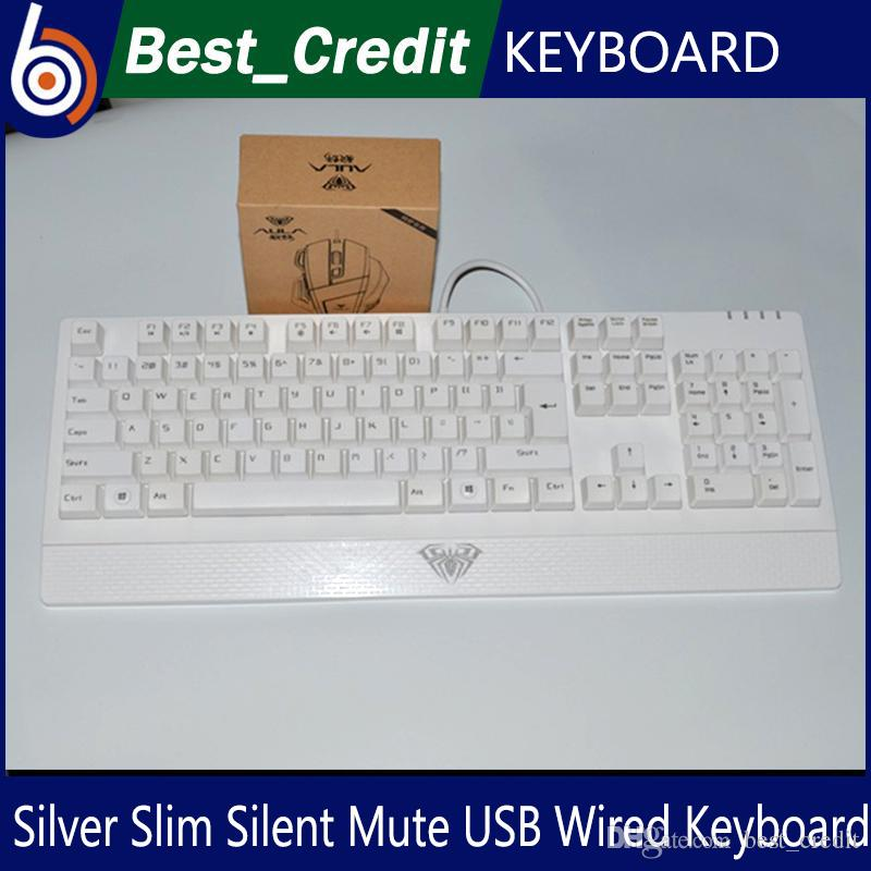 silver slim silent mute usb wired keyboard for windows xp vista 7 8 desktop computer with the. Black Bedroom Furniture Sets. Home Design Ideas