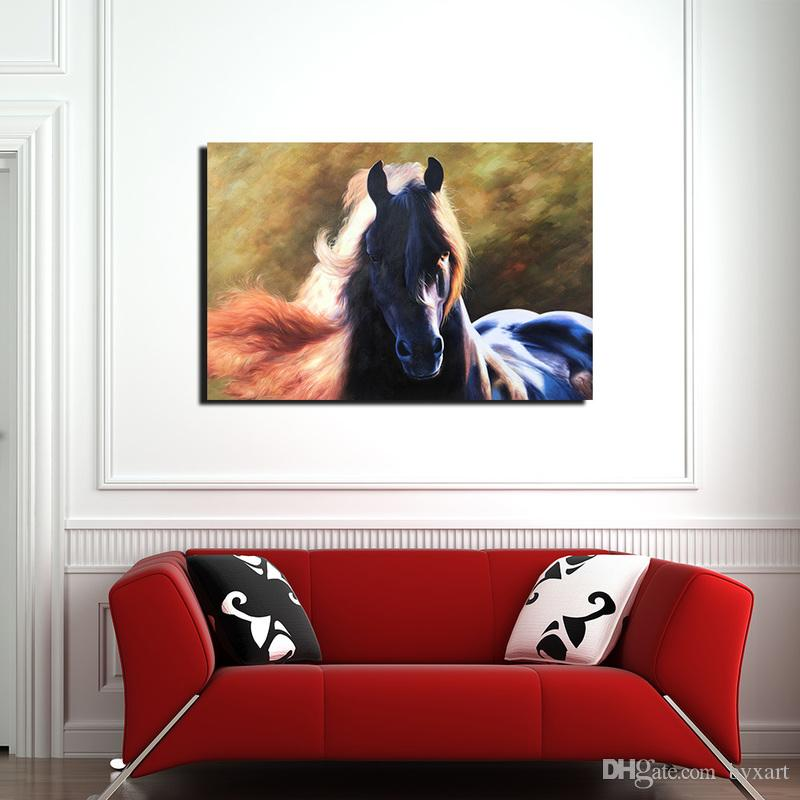 2018 Animal Canvas Painting, 1 Panel Black Horse Wall Art Canvas Prints Wall  Decor For Living Room Bedroom Wall Decorations No Frame From Byxart, ...