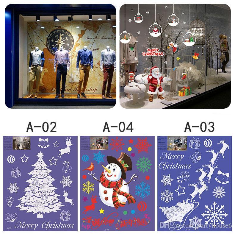 Adesivi murali decorazioni natalizie decorazioni natalizie antistatiche adesivi vetrine senza colla adesivi in vetro gratis shopping
