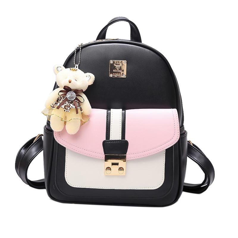 2018 Fashion Korean Women Mini Backpack Small PU Leather Backpacks School  Bags Teenagers Girls Female Travel Backpack Mochilas Ogio Backpack  Rucksacks From ... 9e0fbdb0a7267