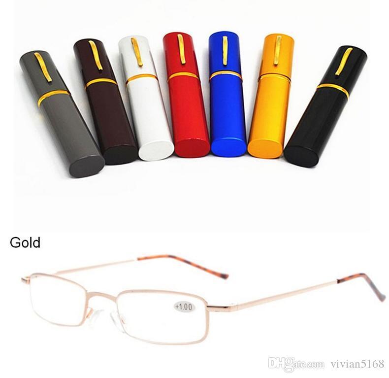 패션 독서 안경 aspherical 렌즈 휴대용 펜 타입 초소형 독서 안경 노안 안경 펜 모양의 경우