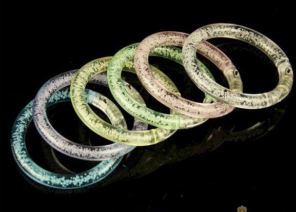 DHL Flashing LED Bracelet Luminous Bracelet Glowing Wrist Band Chiristmas Party LED Light Sticks LED Poms Cheer It