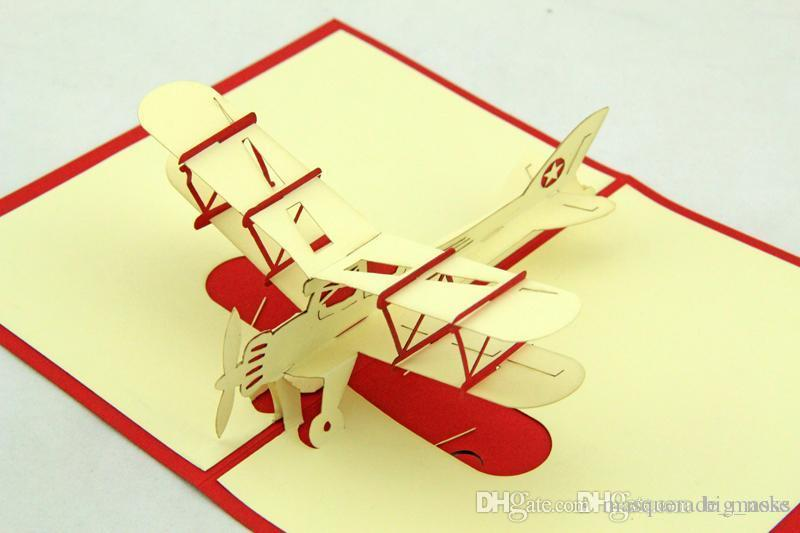 Excellent Vintage Aircraft 3d Handmade Card Pop Up Gift Greeting 3d Cards  TZ75