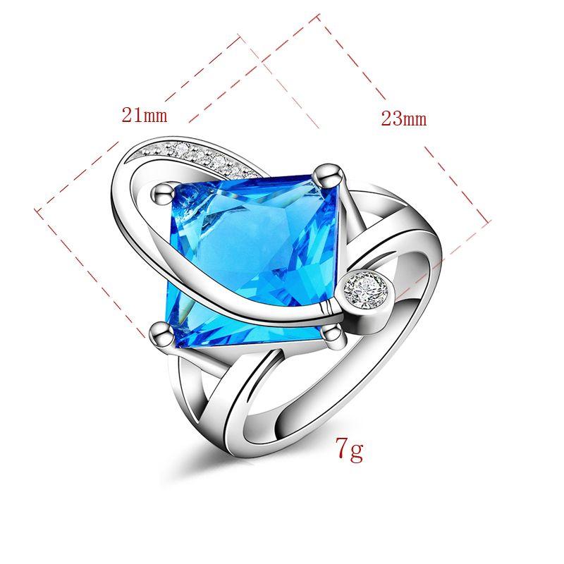 Livraison Gratuite Nouveau 925 Sterling Silver bijoux de mode Autriche haute qualité Bleu Cristal Anneau Vente Chaude fille cadeau 1503