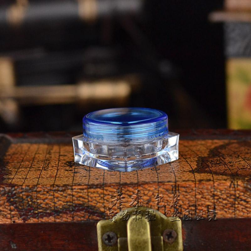 مربع مخفض الجرار مستحضرات التجميل 3 جرام البلاستيك جرة التجميل غسول الحاويات الفارغة إعادة الملء جرة eyecream مربع حاوية بسيطة المنزل عطور