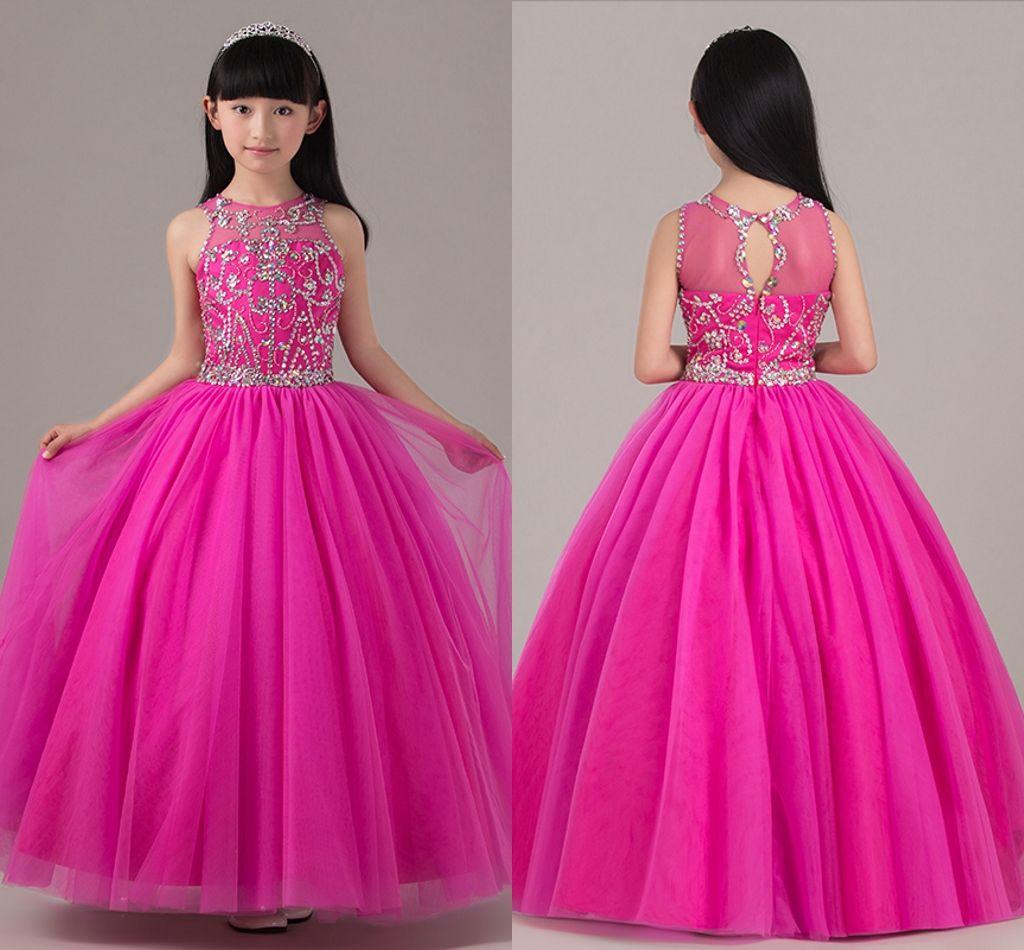 1b43f2174 2019 Princess Dress Girls Dress Costumes Children Piano Host Wedding Flower  Girl Birthday Dress Catwalk Show HY1143 Little Girl Pagent Dresses Little  ...