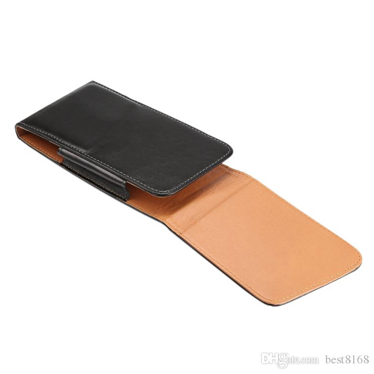 Universal Hip Holster Sheep Leather Flip Cover For Iphone XS MAX XR X 8 7 6 5 SE Galaxy S10 S9 Note9 360 Vertical Buckle Case Belt Pouch