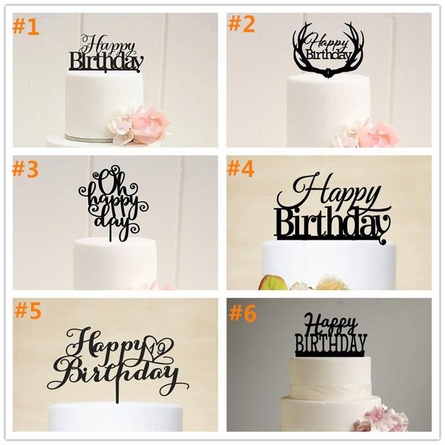 2019 Wholesale Personalized Happy Birthday Acrylic Cake Topper Party Baby Shower First Stand From Adeir 4035
