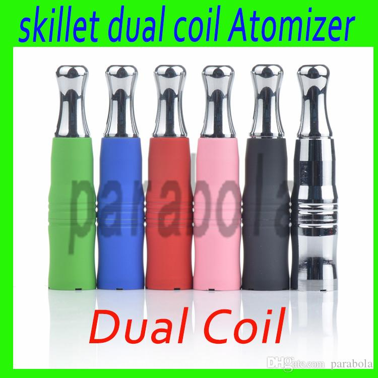 Skillet vaporizzatore 510 cera atomizzatore a doppia bobina ceramica sostituzione atomizzatore coilet skillet ego d atomizzatore a doppia ceramica vaporizzatore