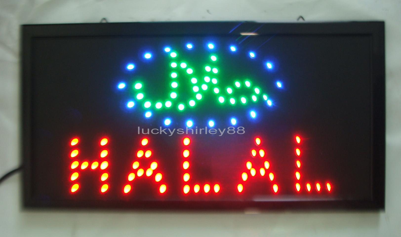 2018 new arriving customized led halal signs neon halal signs neon 2018 new arriving customized led halal signs neon halal signs neon halal sign lights semi outdoor size 48cm25cm from luckyshirley88 1629 dhgate mozeypictures Gallery