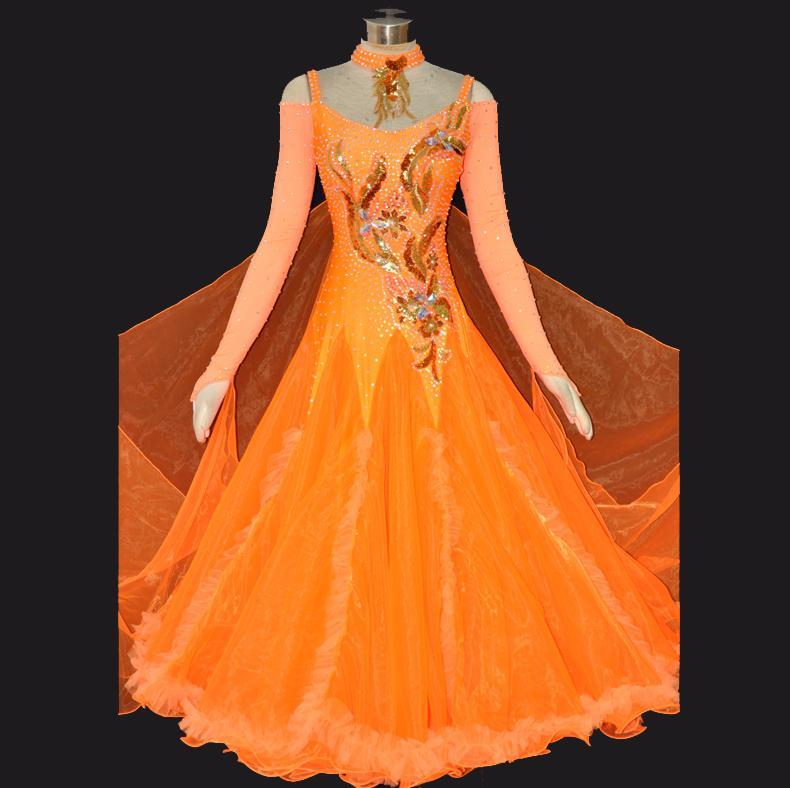 2017 Dance Ballroom Dress Customized Waltz Tango Modern Dancing ...
