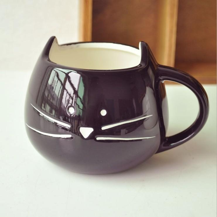 Mug Cute Black And White Cat Ceramic Cup Couple Simple Cup Cat