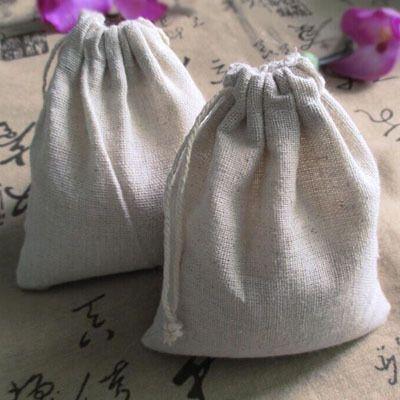 Best Cotton Linen Drawstring Bag 10x15cm4x6 Personalized Logo ...