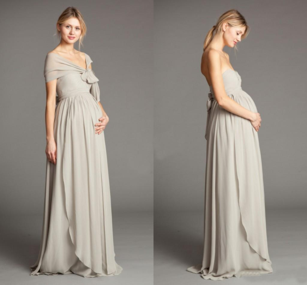 2015 silver long maternity bridesmaid dresses with jacket sash 2015 silver long maternity bridesmaid dresses with jacket sash chiffon strapless custom made pregnant women formal party dress evening gowns bridesmaid ombrellifo Choice Image