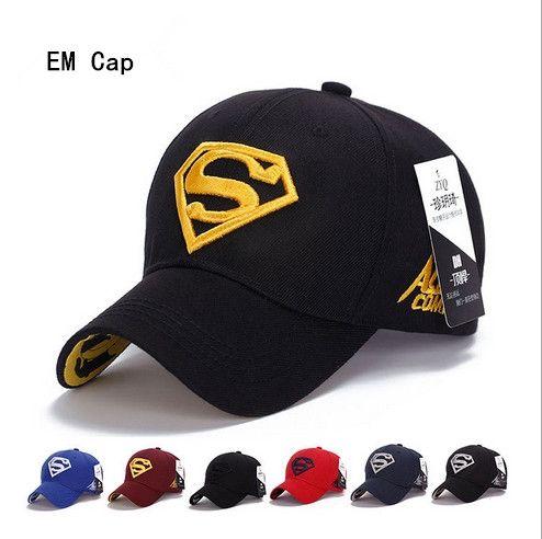 Designer Superman Embroidery Baseball Caps Adjustable Strapback ... 42e1ce92ab9